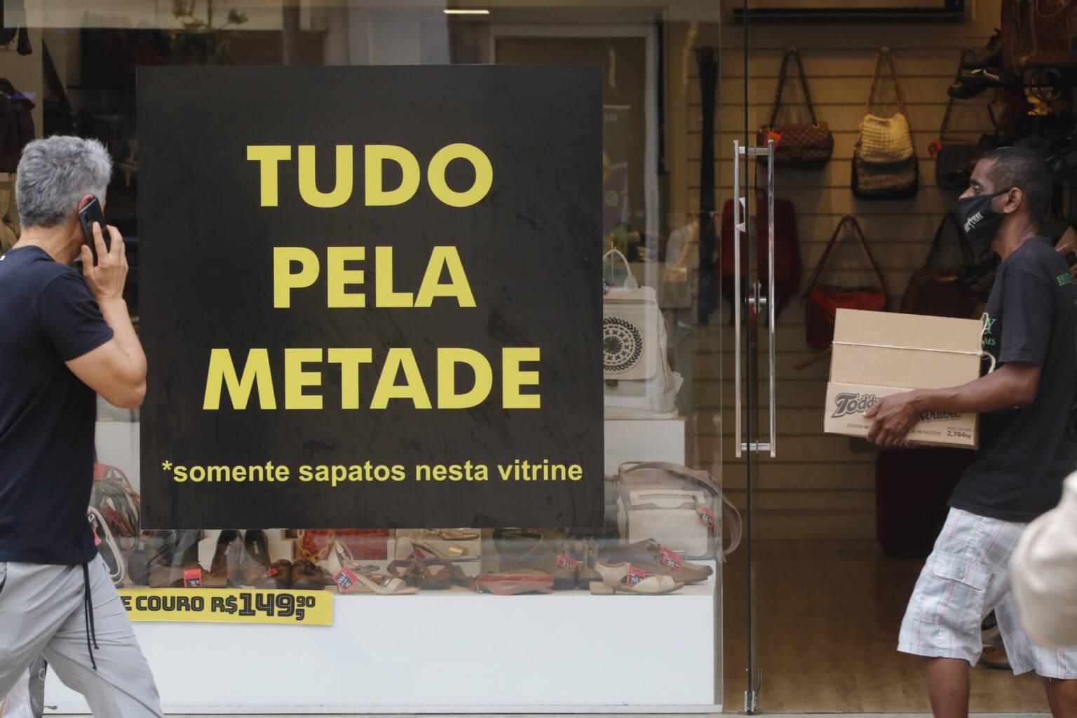 Movimento do comércio de rua durante a flexibilização do isolameto social no Rio de Janeiro
